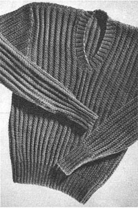 Heavy Service Pullover from The Lux Book 1941 (supplement).