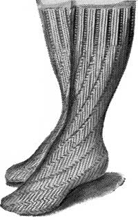 Spiral bedsocks from Madam Weigel's Journal of Fashion, May 1, 1948.