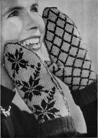 Norwegian Mitts from Needlewoman and Needlecraft no.53 1953.