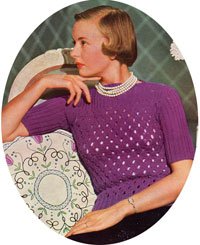 Ladies jersey from Needlework Illustrated no.198, 1949.