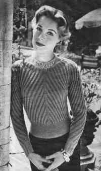 Diagonal Rib Jersey from New Knitting, September 1954.
