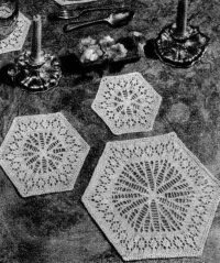 Hexagonal Mats from Pins and Needles No. 15, 1953.
