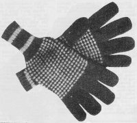 Men's Gloves on Four Needles from Stitch Needlecraft and Home Feature Magazine, Vol. 6, No. 10, July 1954.