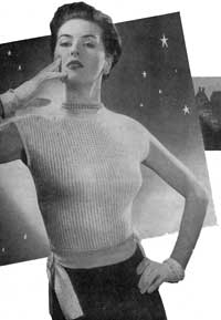 Woman's Jumper with Tie Waist from Stitch Needlecraft and Home Feature Magazine, Vol. 3, No. 12, 1951.