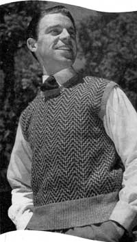 Man's Pullover from Stitch Needlecraft and Home Feature Magazine, Vol. 3, No. 12, 1951.