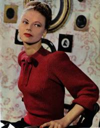 Tie-Neck Jumper from Stitchcraft no.171, 1947.