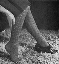 Lace stockings from Gloves Stockings and Socks by Stitchcraft (1940s).