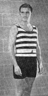 Man's Knitted Bathing Costume from Viyella Knitting Book no. 3, circa 1920s.