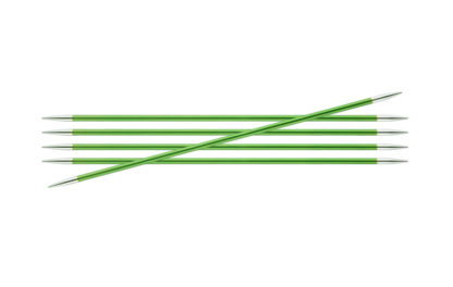 KnitPro Zing Metal Double Point Needles - 3.50mm