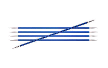 KnitPro Zing Metal Double Point Needles - 4.00mm