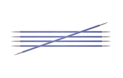 KnitPro Zing Metal Double Point Needles - 4.50mm