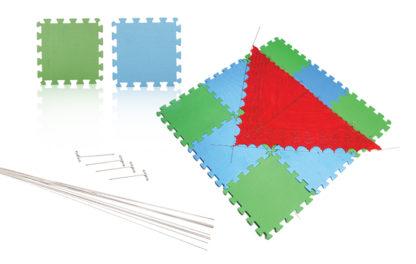 KnitPro Lace Blocking Wire Kit in use.
