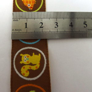 Ribbon - Brown Ground Woodland Creatures