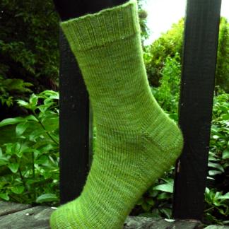 Basic Adult Toe-Up Sock