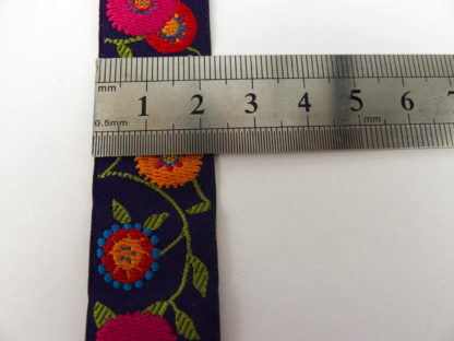 Ribbon - Purple Ground Floral