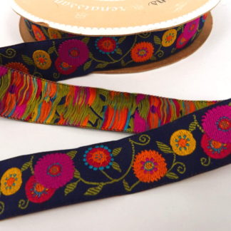 Ribbon - Purple Ground Floral