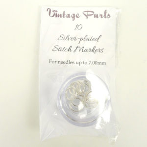 Silver-plated Stitch Markers - Large