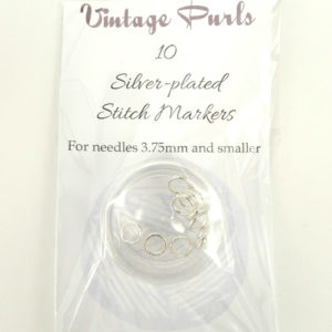 Silver-plated Stitch Markers - Small