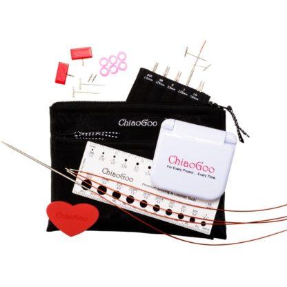 ChiaoGoo Twist Red Lace 4″ MINI Interchangeable Needle Set