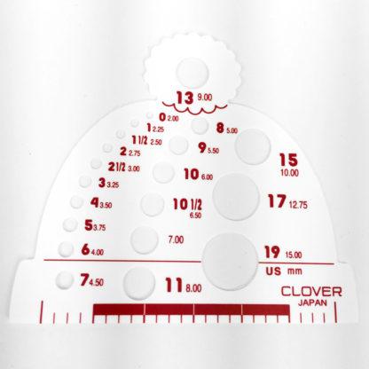 Clover Knitting Needle Gauge