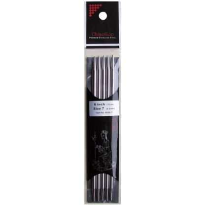 """ChiaoGoo 6"""" Stainless Steel Double Point Needles"""