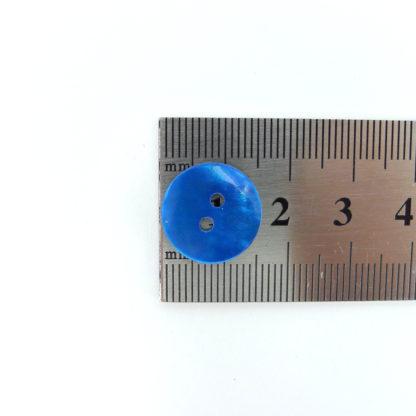 Blue Shell Buttons 15mm