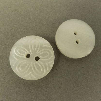 Engraved Flower Button