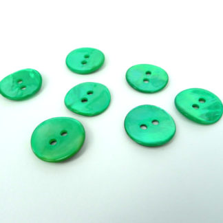 Green Shell Buttons 15mm