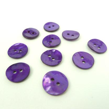 Purple Shell Buttons 15mm
