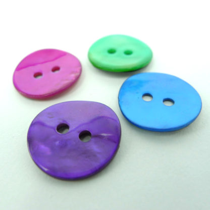 Coloured Shell Buttons 15mm