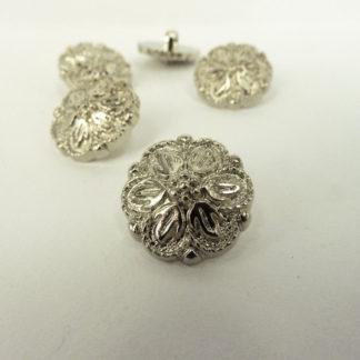 Metal-Look Plastic Flower 15mm