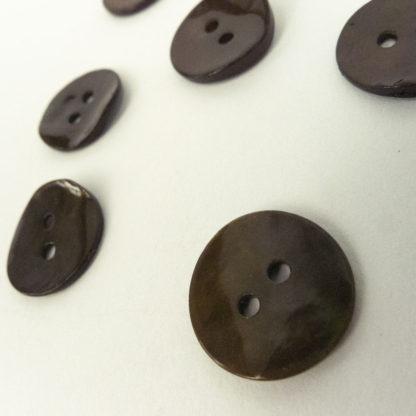 Dark Brown Shell Buttons 15mm