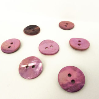 Light Pink Shell Buttons 15mm