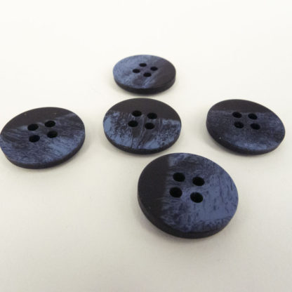 Blue distressed-look Button 18mm