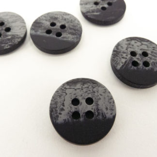 Grey distressed-look Button 18mm