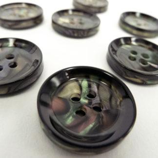 Plastic Paua Button 20mm